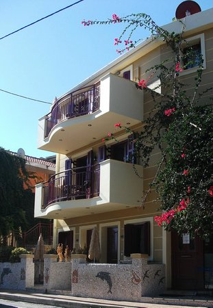 Greka Ionian Suites & Villa: View from the street .