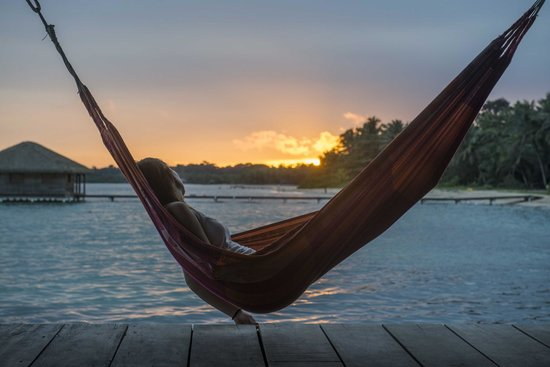 Casa Cayuco : one of the many hammocks on the dock
