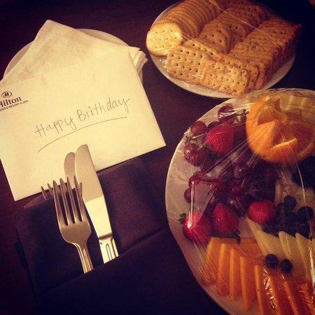 هيلتون سان دييغو ريزورت أند سبا: Birthday surprise!
