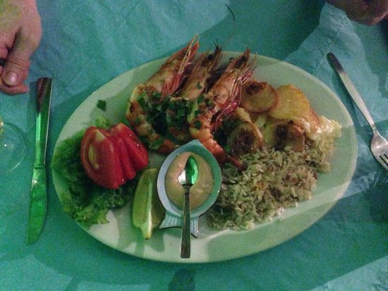 Taverna Kabos Cavos: Grill Garnelen