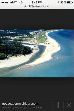 Platte River Campground: Where the Platte River meets Lake Michigan camground is right on mouth of the river.