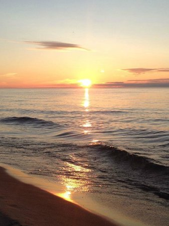 Platte River Campground: Sunset over Lake Michigan