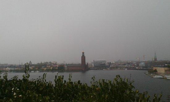 Södermalm: Vista de um ponto alto, mas estava chovendo.