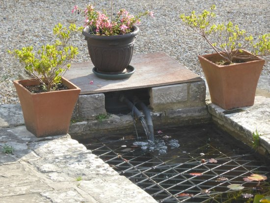 Mortons House Hotel: Why buy a water feature feature from the garden centre when you can make your own?