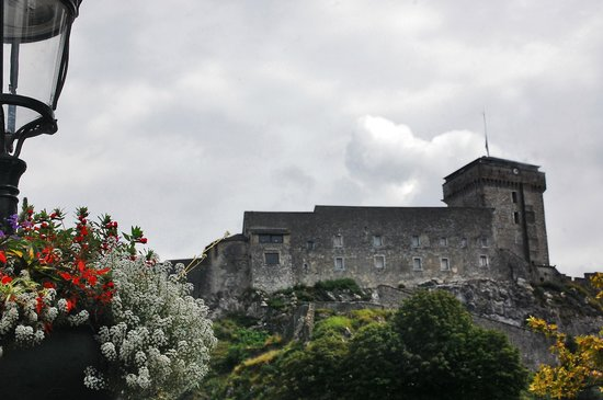 Chateau Fort de Lourdes : View from the base of the hill