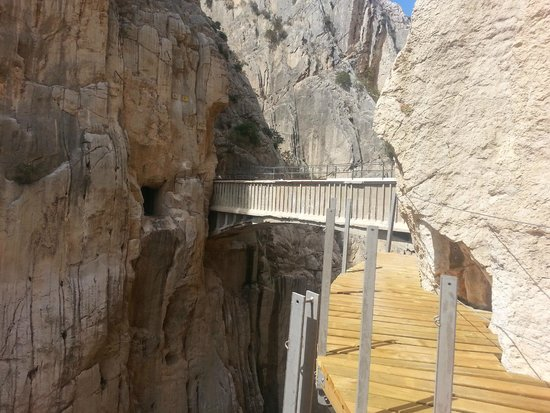 El Chorro, Hiszpania: mostek na caminito