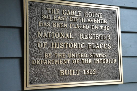 Gable House Bed and Breakfast: Bona fide historic