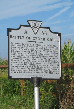 Cedar Creek Battlefield Visitor's Center: Cedar Creek Battlefield Marker