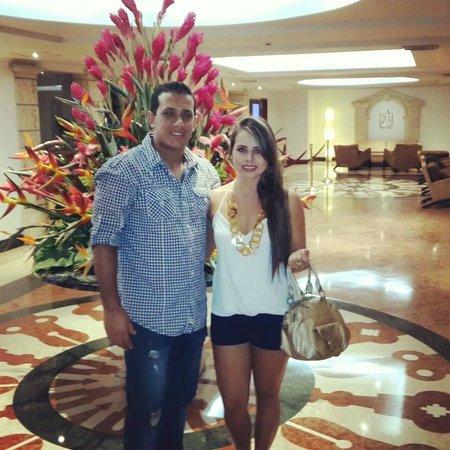 Hotel Almirante Cartagena Colombia : este es el hall del hotel