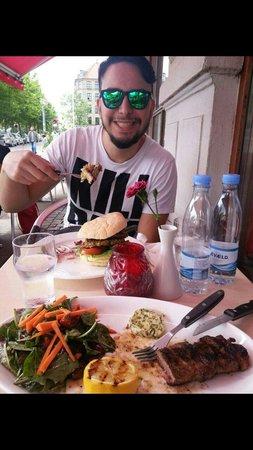 Burger Corner: Our super lunch!!!! :D
