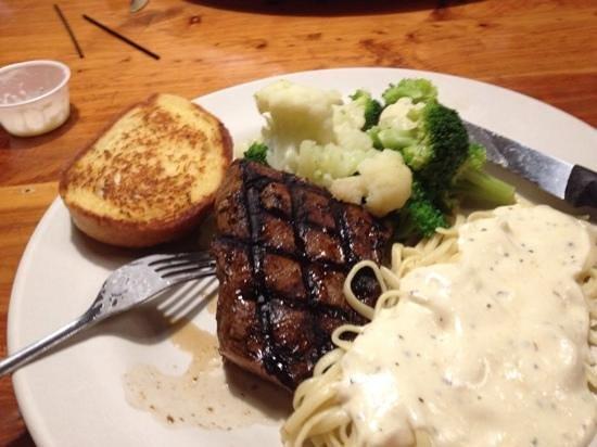 The Outpost: Steak dinner