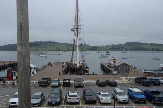 The Savvy Sailor : Looking straight down from the restaurant terrace onto the Bluenose II