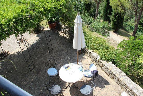 Prato di Sotto : La Capanna's private terrace
