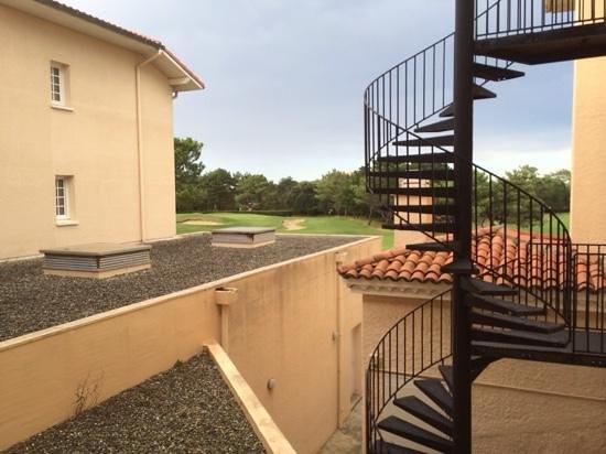 Chiberta et Golf: vue de la chambre 1002 sur le green