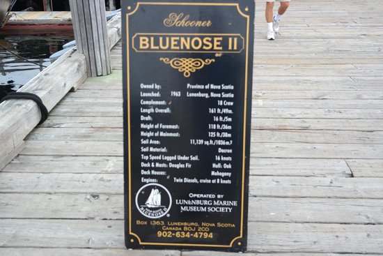 Bluenose II : There substitute for a guide