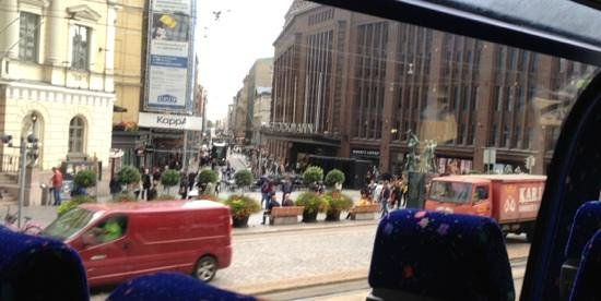 Stockmann's Department Store : view of Stockmanns from sightseeing bus