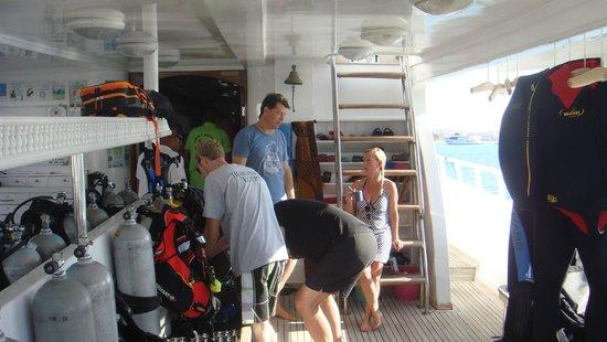 Blue Paradise Diving Center: voor de afvaart