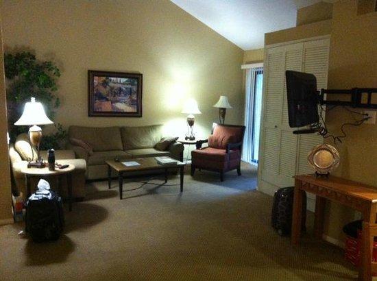 Oasis Villa Resort: 2 brdrm deluxe-living room