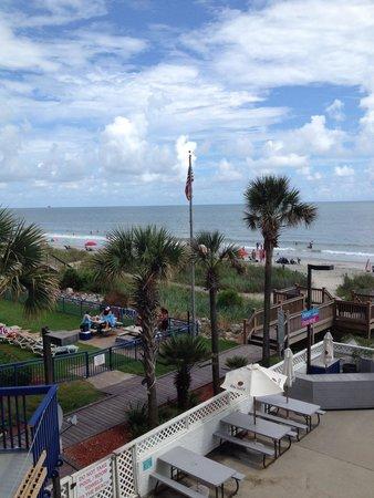 Grand Atlantic Ocean Resort: A look at the back of the resort from the bar next door.