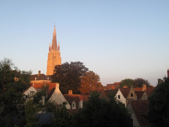 B Guest Bed & Breakfast: view from the top room 'Onze Lieve Vrouwe'