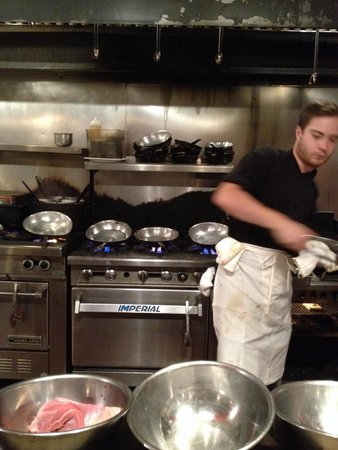 Fineline Bistro: At the grill (yum!)