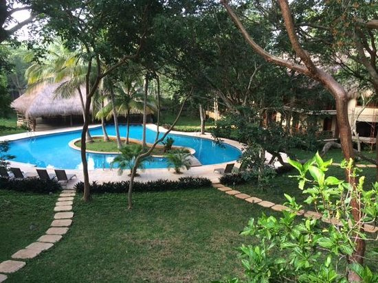 The Lodge at Uxmal: from the verandah