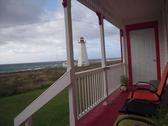 Cape Anguille Lighthouse Inn: on the porch