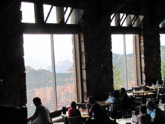 Grand Canyon Lodge Dining Room Beauteous View Of The North Rim From The Lodge Dining Room  Picture Of . Design Decoration