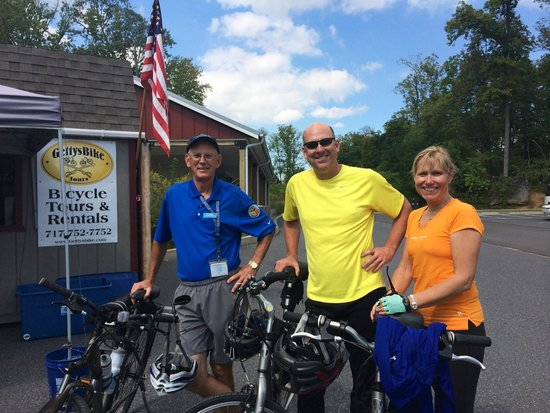 After our Grand Tour with our guide, Dean Harry, at GettysBike Tours.