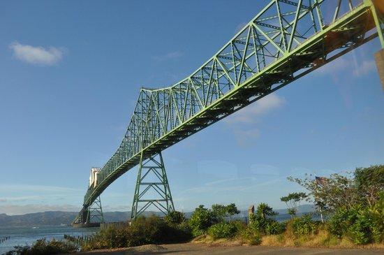 Astoria-Megler Bridge : Bridge viewed from trolley