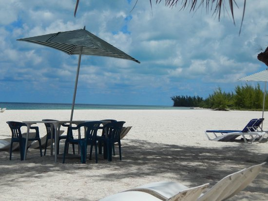 Isla Pasion: Table on the beach.