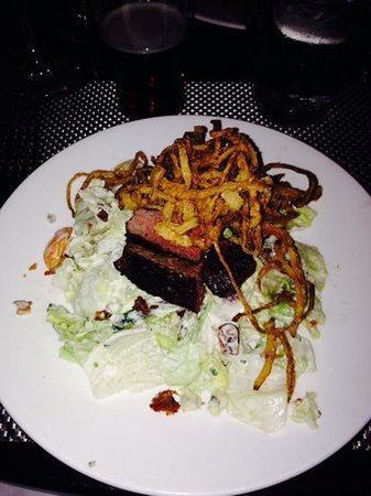 Brandywine Prime Seafood & Chops: steak wedge salad.