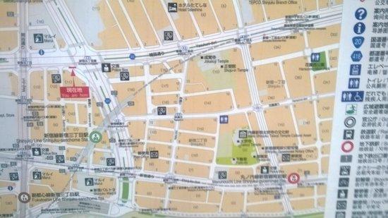 map Picture of Citadines Central Shinjuku Tokyo Shinjuku