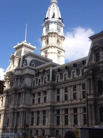 City Food Tours Philadelphia: One of the many historical buildings we were informed about by our awesome tour guide!