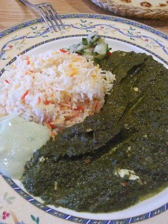 Bombay Cafe: saag paneer