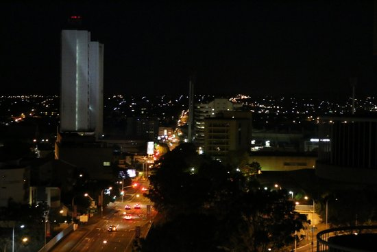 Central Hillcrest Apartments: View of the city at night.