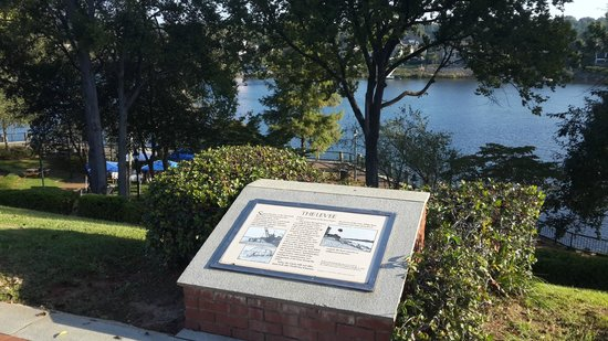 Riverwalk: One of the historical signs