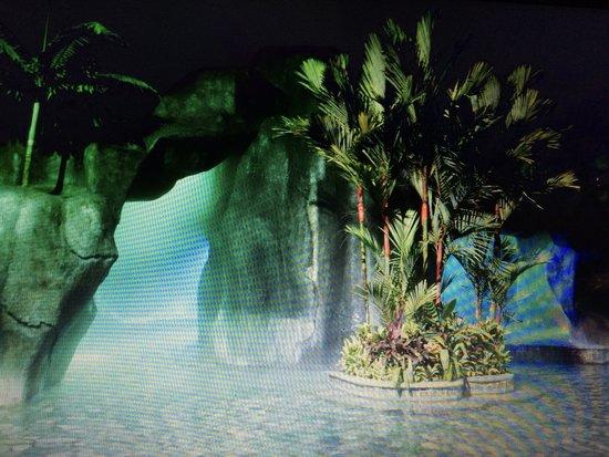 Baldi Hot Springs Hotel Resort & Spa : Una de la piscinas de agua muy caliente con sauna.