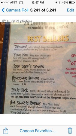 Squeeze In - Sparks NV: Interesting menu items