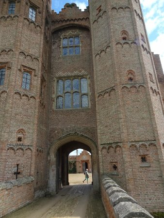 Oxburgh Hall: as you walk in...