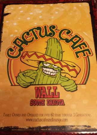 Cactus Cafe & Lounge : Menu cover