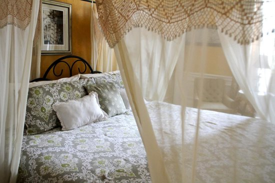 The Flying Frog Bed and Breakfast: Romantic Draped King Size Bed in Giovanni Room