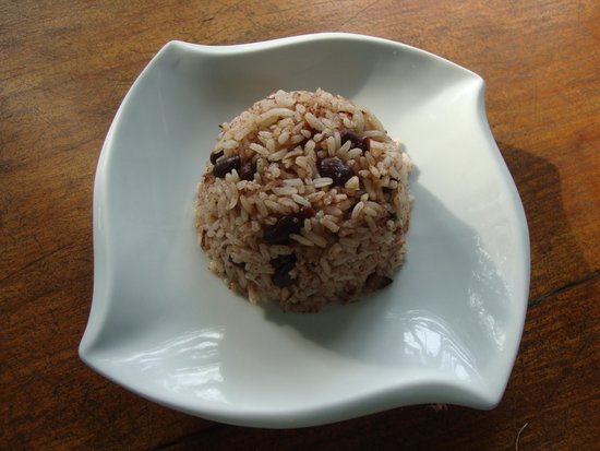 Restaurante Lidia's Place: Caribbean rice and peas