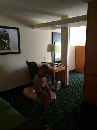 Fairfield Inn & Suites Marion: sofa sleeper area
