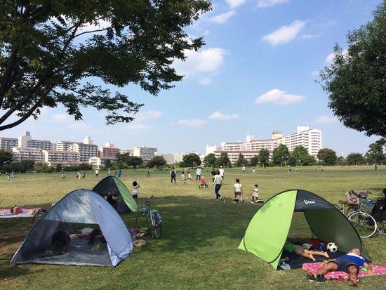 Ojima Komatsugawa Park : central squire