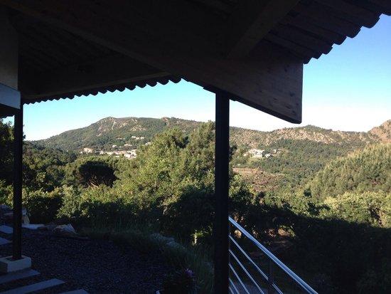 Sérilence : Uitzicht in de middag vanaf balkon 'Coquilles'