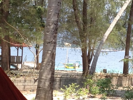 Gili Nanggu Cottages and Bungalows: Blick vom Bungalow (ohne Meerblick)
