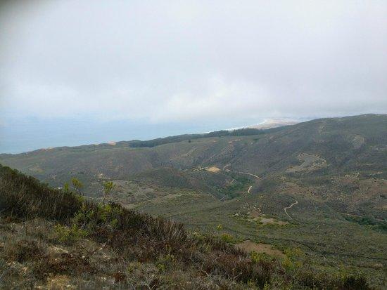 Valencia Peak Trail: Hazy view of the coast