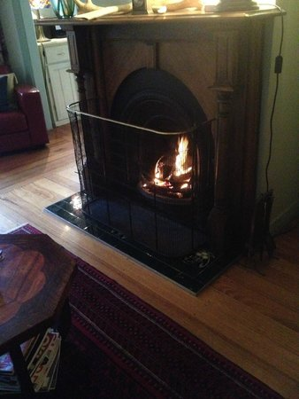 Woolrich Historic Garden Accommodation: The beautiful fire place