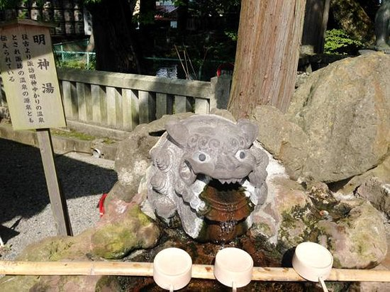 Suwa Shrine: 熱湯でした。